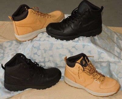 finest selection f8eef 1e212 LOT 2 Nike ACG Manoa BLACK HAYSTACK Boots Men s Leather Winter Boots SIZE 13