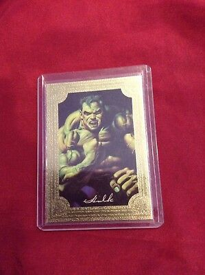 1996 Marvel Masterpieces Gold Gallery Card # 2 / 6 The Incredible Hulk