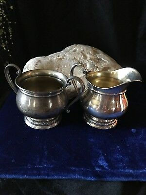 "Antique Sterling Silver Sugar Bowl Creamer Pattern ""Prelude""/International Silve"