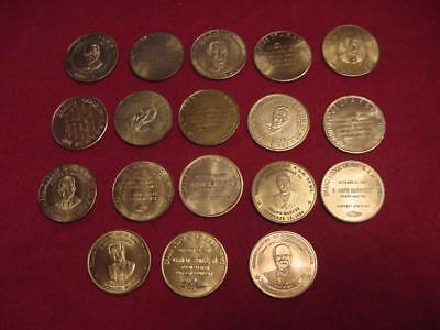 18 diff. Masonic A.F. & A.M. Bonnie Blink Corn Husking Penny Tokens Medals Coins
