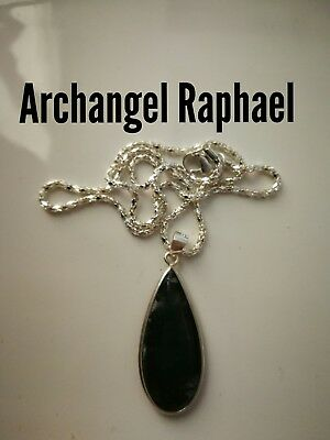 Code 436 Green Moss Agate Infused Archangel Raphael Help with Illness health