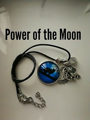 Code 436 power of the Moon Infused Necklace Fairyologist Doreen Virtue Wand Cat