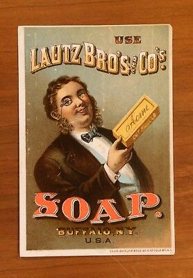 Advertising Trade Card, Lautz Bro's Soap, Bow Tie, Buffalo New York, 1880's