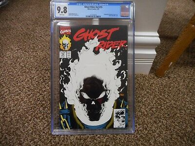 Ghost Rider 15 cgc 9.8 Marvel 1991 GLOW IN THE DARK COVER MINT movie TV show