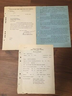 Kings Park State Hospital Patient File - 1924