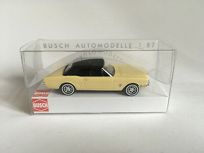 Busch 47524 Ford Mustang Convertible with Softtop, Yellow, Model 1:87 (H0)