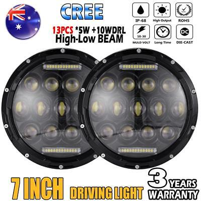 AU 2x 7inch CREE High-Low Beam Round 4x4 DRL Headlight Offroad LED Driving Light