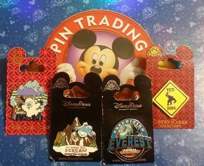 Disney Parks 4 Pin Lot Rides & Attractions Animal Kingdom Expedition Everest NEW