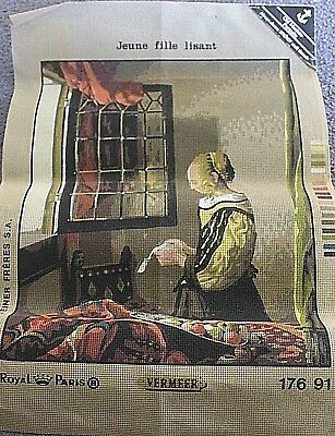 NEW Large Tapestry Canvas  ROYAL PARIS old Masters Portraits  Vermeer  NEW