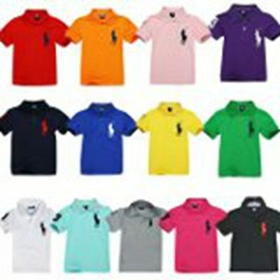 New polo boy Shortsleeve Summer Top T Shirt Cute Designs  2y-14y