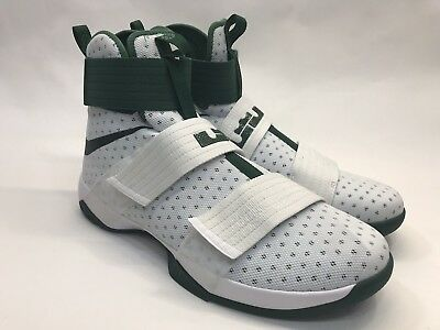 fb8caa07413 NEW Nike Mens LeBron Soldier 10 X High-top White Green Size 16 856489