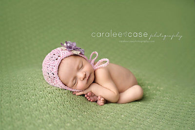 NEW! Handmade Lace Bonnet - Newborn Photo Prop, baby bonnet, knit