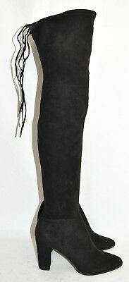 fb5690db835  240 Dolce Vita MARILYN over the knee boot OTK BLOCK HIGHLAND BLACK 9 US  (T36