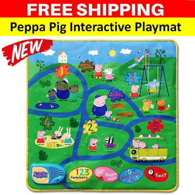 NEW Peppa Pig Playmat Activity Mat with Sound Talking Kids Childrens Toddler