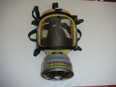 Cosmo yellow silicone with poly carbonate lens and nomex mesh FULL FACE gas MASK