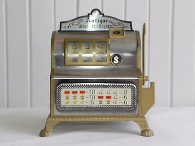 Vintage Slot Machine Table Top Cigarette Lighter Slot-a-lighter WACO Made Japan