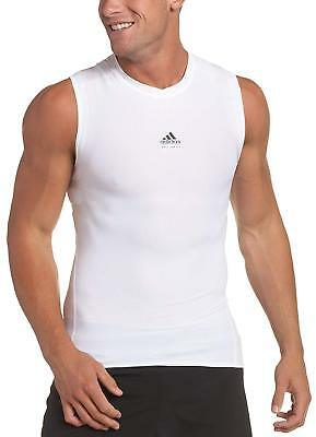 10efb3c0a1585 adidas Techfit Powerweb Compression Tee Sleeveless with Climacool White  XLarge