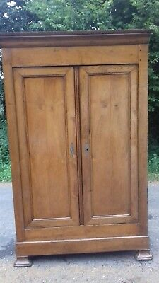 Beautiful Antique Walnut  Handmade 18Thc  Ancient French Linen Press/armoire