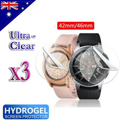 3X Full Coverage Screen Protector Film Guard For Samsung Galaxy Watch 42mm 46mm