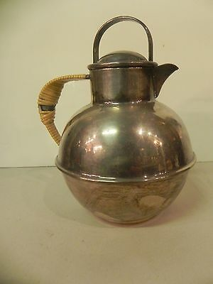 Antique Webster & Son SilverPlated Guernsey Jersey Channel Isle Milk Jug Pitcher
