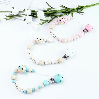 Personalised Dummy Clip Pacifier Chain Dummy Clips Baby Gift Soother Holder Cute