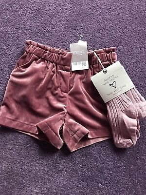 Velour Shorts And Tights Set Age 4-5 Years Next Bnwts Girls