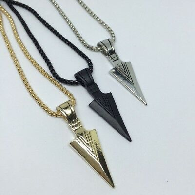 Cool Men Silver/Gold Jewelry Chain Party Necklace Arrow Pendant Fashion Jewelry
