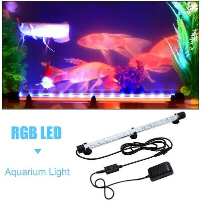 Color Changing LED Lamp Aquarium Light Fish Tank Air Bubble Submersible 5050 RGB