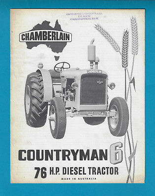 Chamberlain 76 Hp Countryman 6 Diesel Tractor Brochure Leaflet