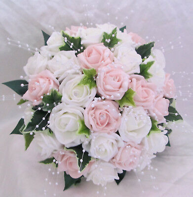 Wedding Flowers Wedding Bouquet Brides Bouquet Posy Pale Pink Blush Pale Pink