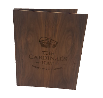 Personalised Wooden Menu Folder Cover - York (A4 / A5)