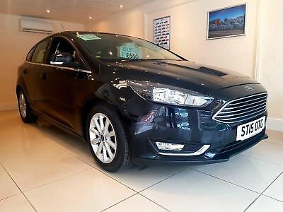 FORD FOCUS TITANIUM 1.6 TDCI Black Manual Diesel, 2015 MASSIVE SPEC!!!