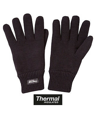 Mens Thinsulate Gloves Thermal Fleece Lined Knitted Winter Gloves One Size