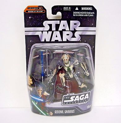 """GENERAL GRIEVOUS ( 4"""") STAR WARS SAGA ACTION FIGURE #030 w/RED STORMTROOPER HOLO"""