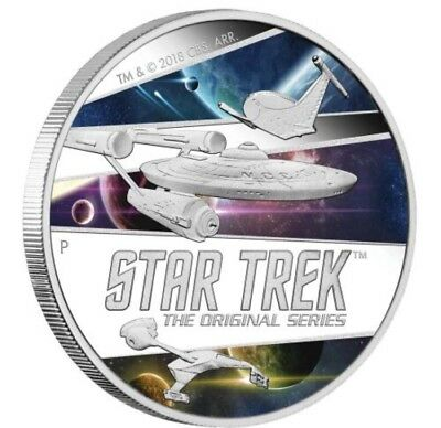 Star Trek: The Original Series – Ships 2018 2oz Silver Proof Coin MINTAGE: 850