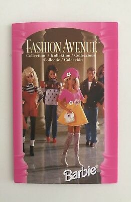 Barbie Mini Catalogo 1995 Fashion Avenue  Mattel Vintage