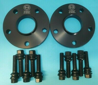 VW Transporter T5 T6 Pair 5x120 Hubcentric Spacers 20mm 65.1CB &19mm Bolts BLACK