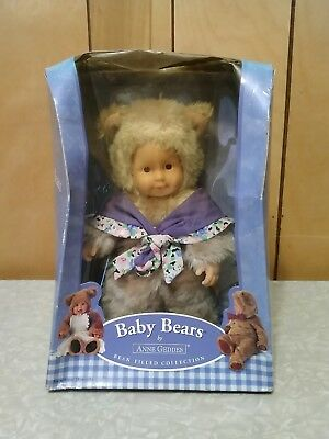 Anne Geddes Baby Bears Bean Filled Plush.