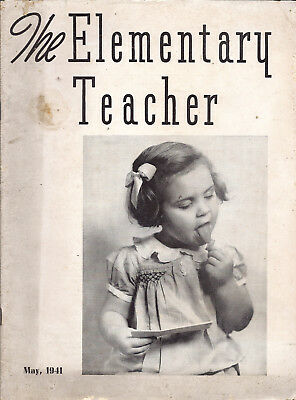 5 vintage issues of The Elementary Teacher magazine from 1941