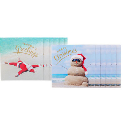Christmas 12 Pack Square Summer Cards