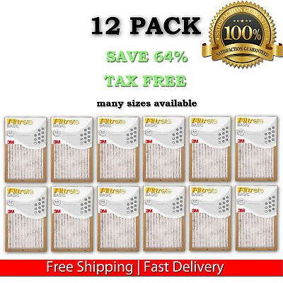 Filtrete- Air-Filter 12 Pleated Furnace Replacement Pad Dust Pack Lot Of 12 New