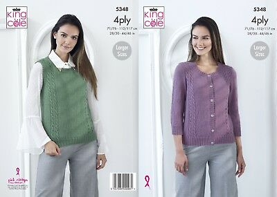 KINGCOLE 5348 4ply  KNITTING PATTERN  28-46 INCH -not the finished garments