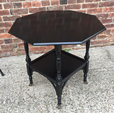 A GOOD 19th CENTURY EBONISED AESTHETIC MOVEMENT OCCASIONAL TABLE.