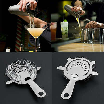 Bar Bartender Colander Filter Stainless Steel Cocktail Shaker Ice Strainer