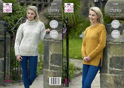KINGCOLE 5289 Chunky KNITTING PATTERN  28-46INCH -not the finished garments