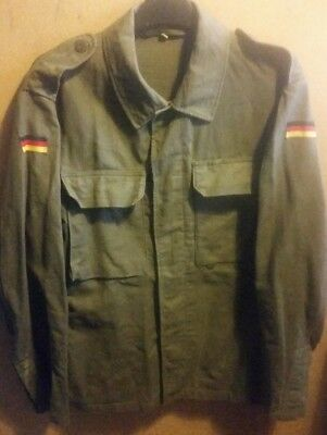 German Army Classic Style Unisex Winter Olive Green jacket Coat Size Large