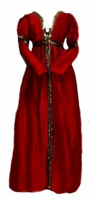 Renaissance Gown Halloween Juliet Costume Borgia Over Dress Burgundy L/XL
