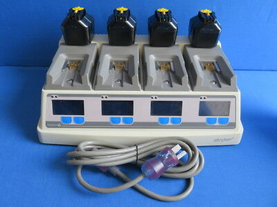 Stryker 6110-120 System 6 Battery Charger w/ 4 NEW 6212 Small Batteries