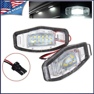 2X 18LEDS License Plate Light Direct Fit For Acura TL TSX MDX Honda Civic Accord
