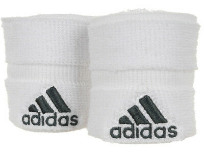 adidas Tennis Wristband Small GR White Soft Absorbent Sweat Band for Wrist